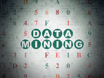 Concept de données : Exploitation de données sur le papier de Digital Images stock