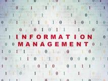 Concept de données : Gestion de l'information sur Digital Photographie stock