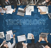 Concept de données Internet de communication de connexion de technologie images libres de droits
