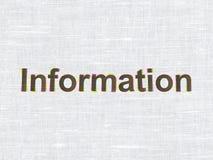 Concept de données : L'information sur la texture de tissu Photo libre de droits