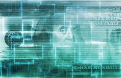 Concept de données numériques de finances Image libre de droits