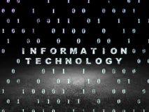 Concept de données : Technologie de l'information dans le grunge Images stock