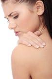 Concept de douleur dorsale Images libres de droits