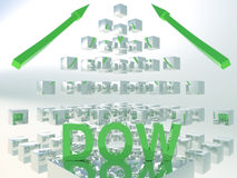 Concept de Dow Jones Rising 3D Photo stock