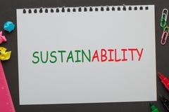 Concept de durabilité de Word photographie stock libre de droits