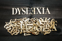 Concept de dyslexie Photographie stock