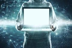 Concept de entailler et de malware images stock