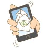 Concept de expédition mobile Image libre de droits