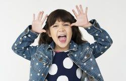Concept de fabrication heureux de portrait de visages d'enfants Photos stock