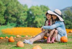 Concept de famille fille de mère et d'enfant dehors en été Images libres de droits