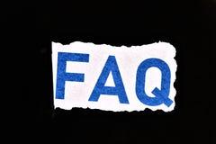 Concept de FAQ Questions souvent pos?es images stock