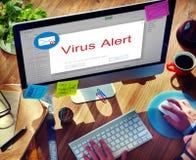 Concept de fenêtre d'avertissement automatique d'email photos libres de droits