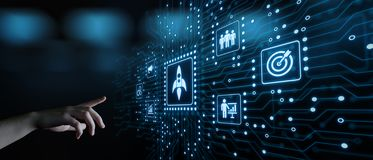Concept de financement de démarrage de technologie d'affaires d'Internet d'esprit d'entreprise de capital-risque d'investissement images libres de droits