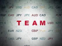Concept de finances : Équipe sur le fond de papier de données numériques Images stock