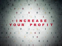 Concept de finances : Augmentez votre bénéfice sur numérique Photographie stock libre de droits