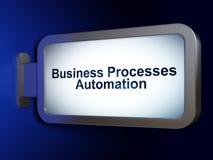 Concept de finances : Automation de processus d'affaires sur le fond de panneau d'affichage Photos stock