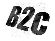 Concept de finances : B2c sur le fond de Digital Photo stock