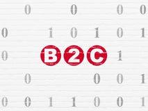 Concept de finances : B2c sur le fond de mur Photos libres de droits