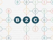 Concept de finances : B2c sur le fond de mur Photo libre de droits