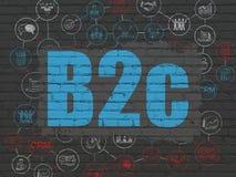 Concept de finances : B2c sur le fond de mur Images libres de droits