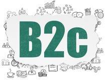 Concept de finances : B2c sur le fond de papier déchiré Image libre de droits