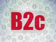 Concept de finances : B2c sur le fond de papier de données numériques Image stock