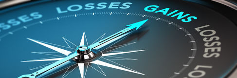 Concept de finances, bulletin de renseignements financier Images stock