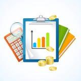 Concept de finances d'affaires Vecteur Photographie stock libre de droits