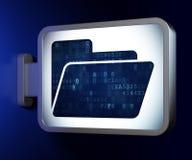 Concept de finances : Dossier sur le fond de panneau d'affichage Photos libres de droits