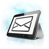 Concept de finances : Email sur l'ordinateur de PC de comprimé Photographie stock libre de droits