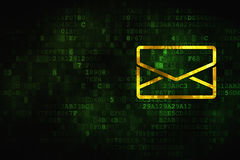 Concept de finances : Email sur le fond numérique Photographie stock