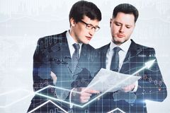 Concept de finances et de travail d'équipe Photographie stock