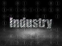 Concept de finances : Industrie dans la chambre noire grunge Images stock
