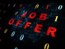 Concept de finances : Job Offer sur le fond de Digital Photo stock
