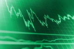 Concept de finances L'investissement et le concept gagnent et des bénéfices avec les diagrammes fanés de chandelier photos libres de droits