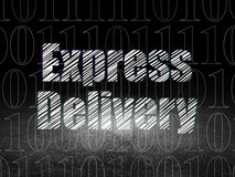 Concept de finances : La livraison express dans l'obscurité grunge Image libre de droits