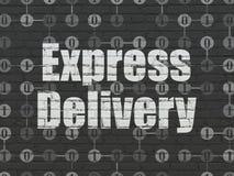 Concept de finances : La livraison express sur le mur Photos libres de droits