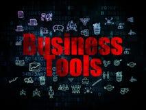 Concept de finances : Outils d'affaires sur Digital Photographie stock libre de droits