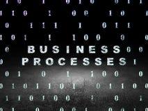 Concept de finances : Processus d'affaires dans l'obscurité grunge image libre de droits