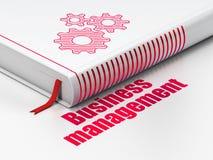 Concept de finances : réservez les vitesses, gestion d'entreprise sur le fond blanc Photographie stock