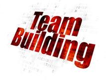 Concept de finances : Team Building sur le fond de Digital Photo stock