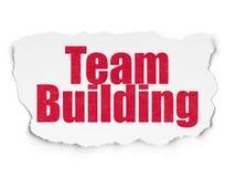 Concept de finances : Team Building sur le fond de papier déchiré Photographie stock libre de droits