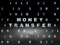 Concept de finances : Transfert d'argent dans l'obscurité grunge Photo stock