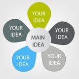 Concept de fleur colorée pour le design d'entreprise différent Image stock