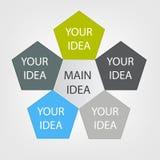 Concept de fleur colorée pour le design d'entreprise différent Vecteur Image libre de droits