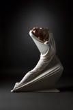 Concept de folie Fille émotive dans la pose étrange Photo libre de droits