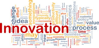 Concept de fond d'affaires d'innovation Image libre de droits