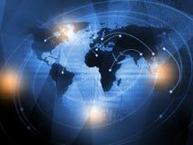 Concept de fond d'affaires du monde dans le bleu Photographie stock libre de droits
