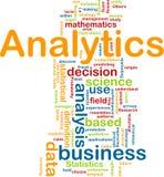 Concept de fond d'Analytics Image stock