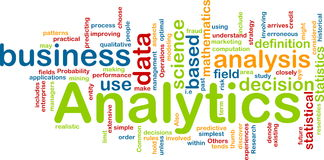Concept de fond d'Analytics Images stock